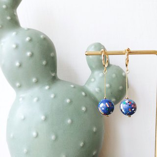 [endorphin] Candy Stone Bead Drop Earrings - Ice Mine