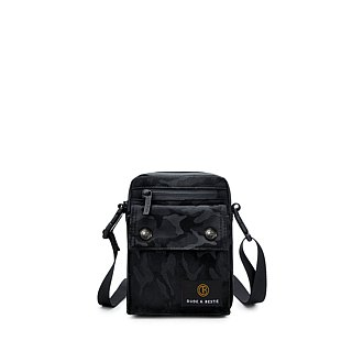 [THE DUDE] Image Lightweight Bag Waist Bag Crossbody - Black Camouflage