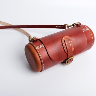[Tangential] healing capsule handmade leather drum bag waist drum bag handbag shoulder Messenger bag