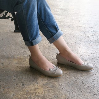 Wanna Cat Flat Shoes - Grey