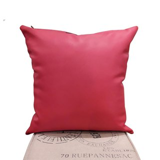 Fashion leather pillowcase / pillow / red