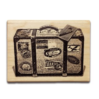 KEEP A NOTEBOOK Wooden Rubber Stamp CKN-031C_Luggage