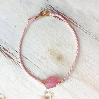 【Strawberry Crystal】Ore woven hand rope