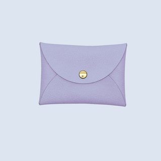 Customized hot leather macarons purple card sets / wallet / card holder / card case