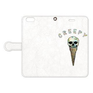 [Handbook type iPhone case] Creepy ice cream
