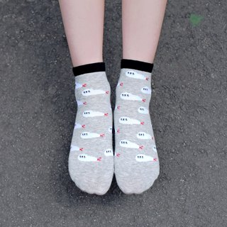 [Exclusive] Mini full version of fried shrimp seal socks - skin-friendly cotton