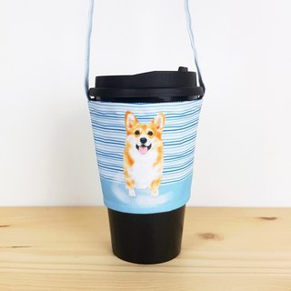 Corky striped eco-cup/beverage bag/animal pet styling
