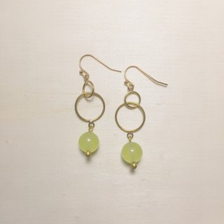 Grape jade double hoop earrings