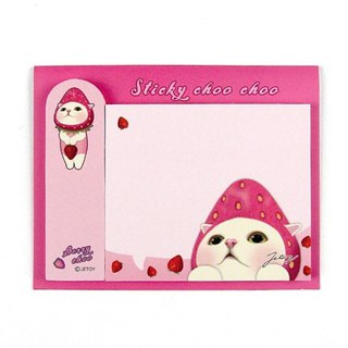 JETOY, sweet cat self adhesive sticky book _Berry choo J1711302