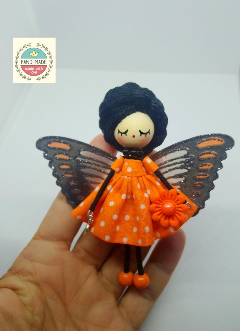 Brooch doll Fairy