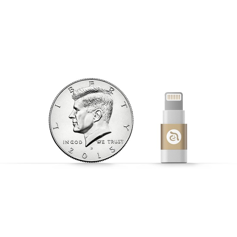 PeAk A1 Micro USB to Lightning Adapter Gold