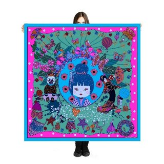 "Large Scarf/Sarong ""Coco"" 140x140cm Limited Edition 250 pieces"