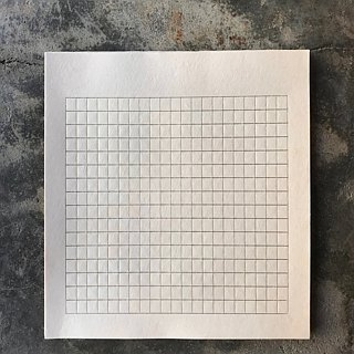 Narrow checkered paper group / hot gold grid + cowhide color envelope