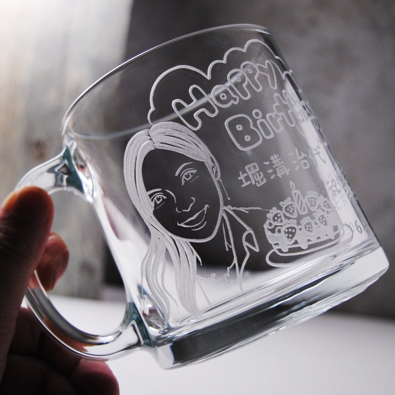 350cc Japanese friends gifts [] (Realistic Version) Japanese girl portrait engraving gift mug customized birthday celebration Birthday!