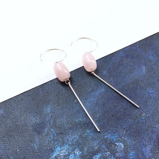 Little lucky series - 925 silver & rose quartz earrings