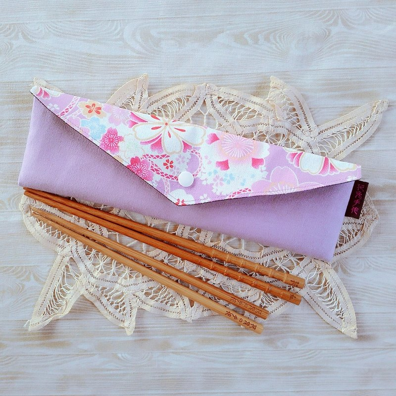 And the wind purple bottom of the increase version of environmental protection chopsticks straw general environmental protection tableware bags