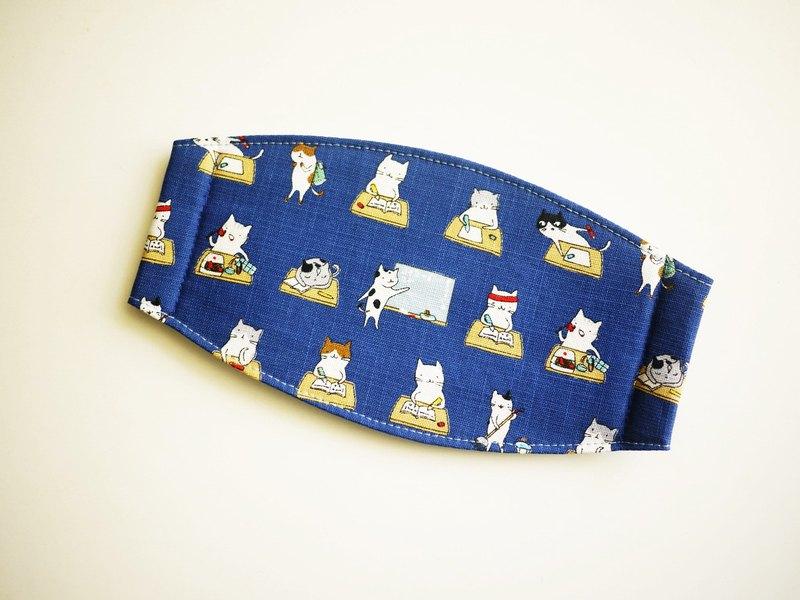 手工訂製口罩=貓咪小學堂=深藍