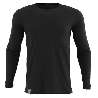 ✛ tools ✛ male version Qingshu cotton round neck long-sleeved black T # comfort :: :: :: skin-friendly cotton