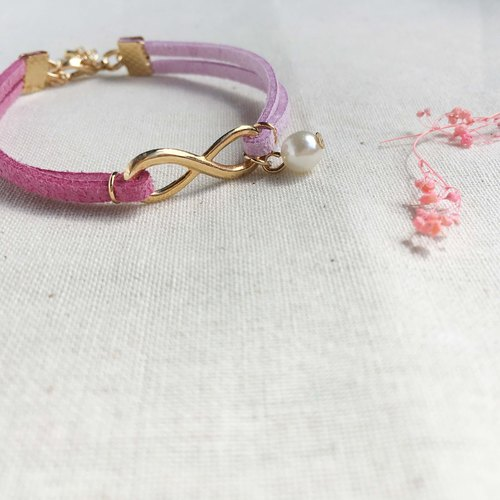 Handmade Infinity Bracelets Rose Gold Series– berry purple limited