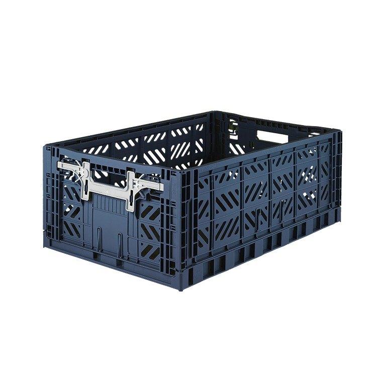 Turkey Aykasa Folding Storage Basket (L)   Navy Blue