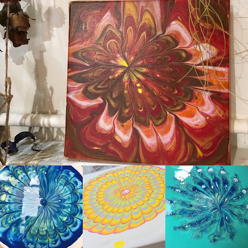 【Workshops】Flowing creation of mandala flowers
