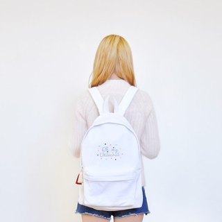 Dear My Universe Oh my little universe backpack - white