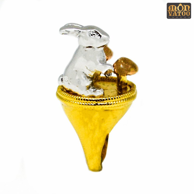 3-gold Wild Rabbit Ring