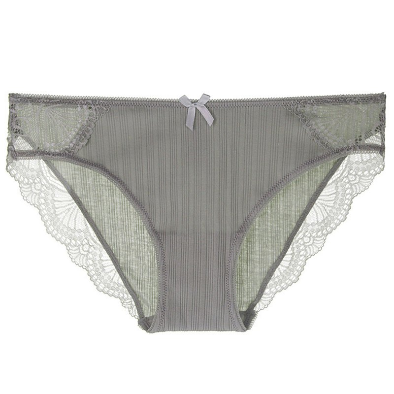 Ribbed soft cotton underwear ·Light green