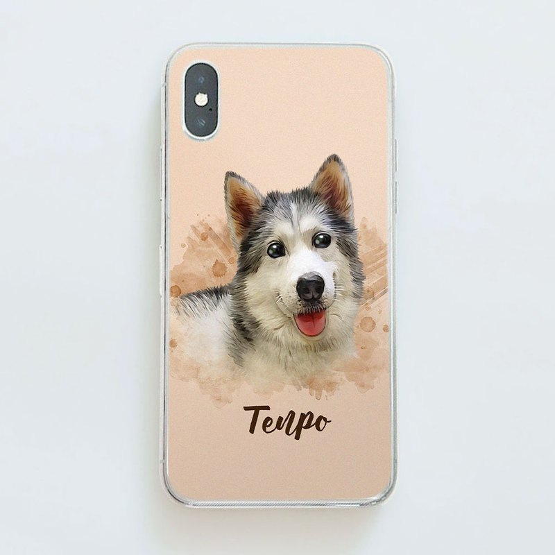Customized character pet painting / mobile phone case (watercolor wind)