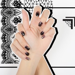 Dark Romance Nail Wraps / Designer Nail Stickers ( 22pcs)