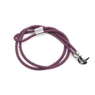 Genuine Leather Eyewear Strap ( Plum )