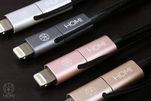 HOMI CREATIONS - MFI Apple Certified Lightning & Micro USB To USB Transmission Charging Cable - Four Colors in Total