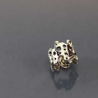 Cheese irregular line 925 silver ring