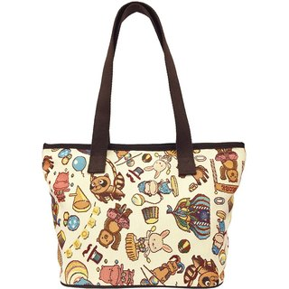 Jacquard weave painting Tote happy circus (meters) coffee