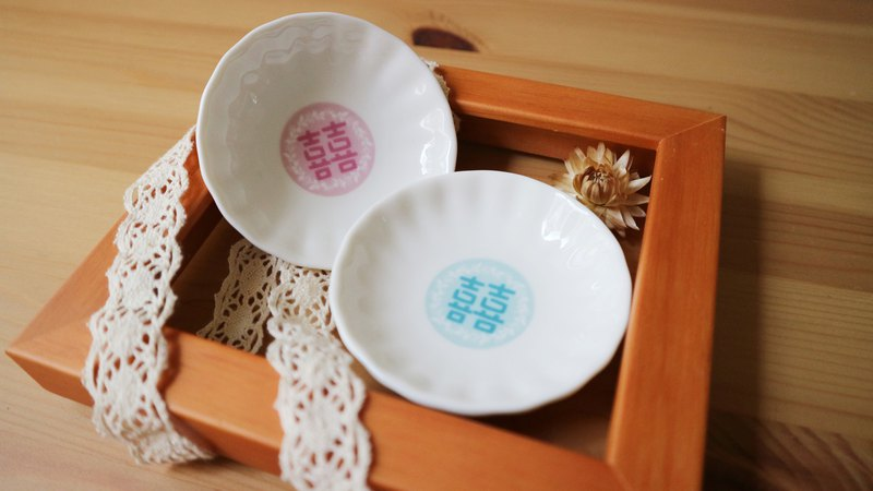 Double-breasted ceramic small dish 10 into the wedding small items / quantity and price concessions