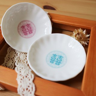 Chrysanthemum Small Set - Wedding Characters / Wedding Stories / Small Saucer / Married / Wedding