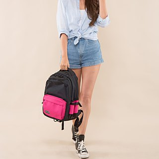 "SOLIS color Palette Series 13"" REISE premium laptop backpack(Fuchsia/Black)"