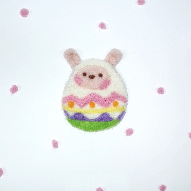 [Q-cute] Festive Series - Easter - Eggs Rabbit - pin / brooch