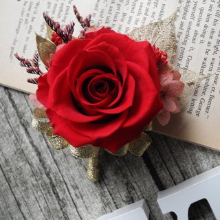 Happy flower married eternal flower brooch