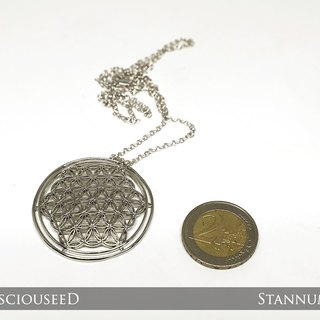Flower of Life Pendant (Platinum gold plated)