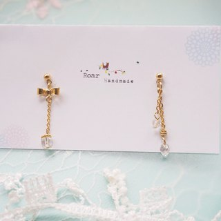 Simple design earrings - gifts. Pin/clip