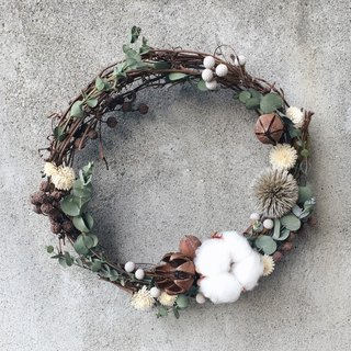 Cotton dried wreaths