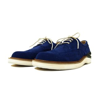 Manufacturing Chainloop SCOT carved Oxford shoes cushion insole sports shoe outsole Taiwan navy blue cow suede leather
