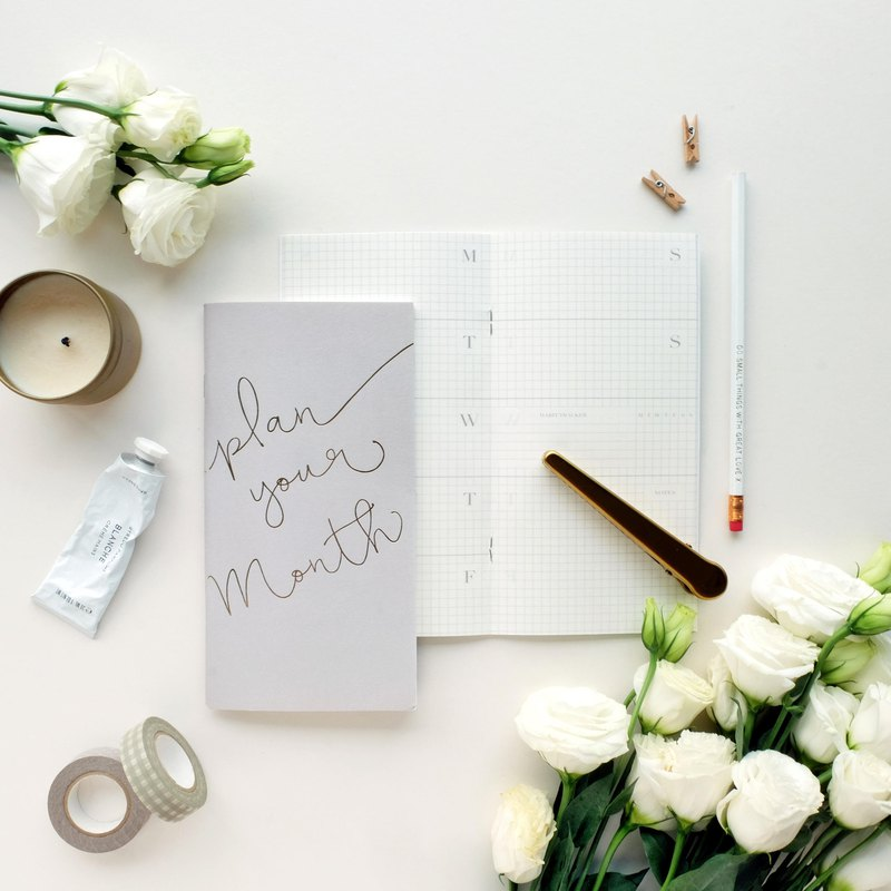 Plan Your Month - Monthly Planner for Travelers Notebook