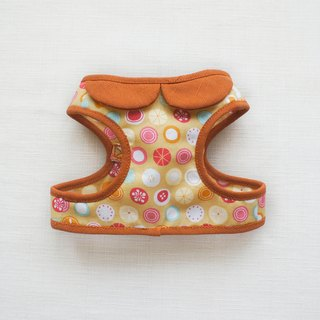 Can be customized. Orange fruit dog pink small circle of essential accessories <Harness>