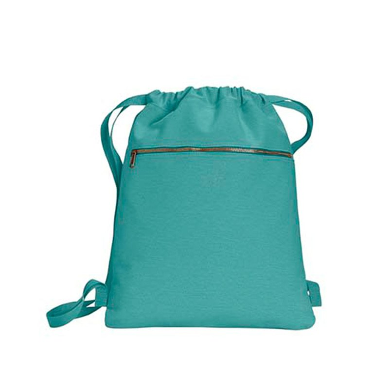 Comfort Colors│ American Fashion Bundle Back Backpack │ Canvas Bag │ Side Backpack | Sea Green