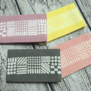 Mumu [vegetation] geometry vegetation dye stained business card holder, the card holder