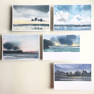 Watercolor (5 in) - Guam / Ritty Dean Point, Tumon Bay_Set of 5 Postcards-Tumon Bay & Ritidian Point / Guam