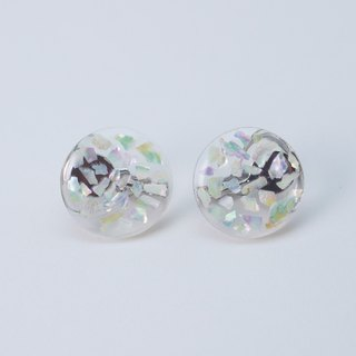 【 !!NEW!! 】pearl mosaic earrings (clear)