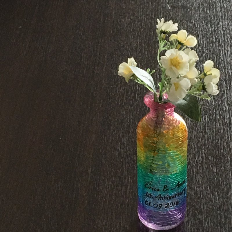 Personalized Rainbow Multi Coloured Hand Painted Decorative Glass